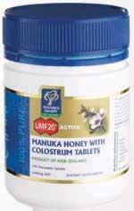 Manuka Honey with Colostrum Chewable Tabs