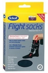Scholl Flight Socks Black UK 9-12