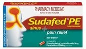 Sudafed PE Sinus and Pain Relief Tabs